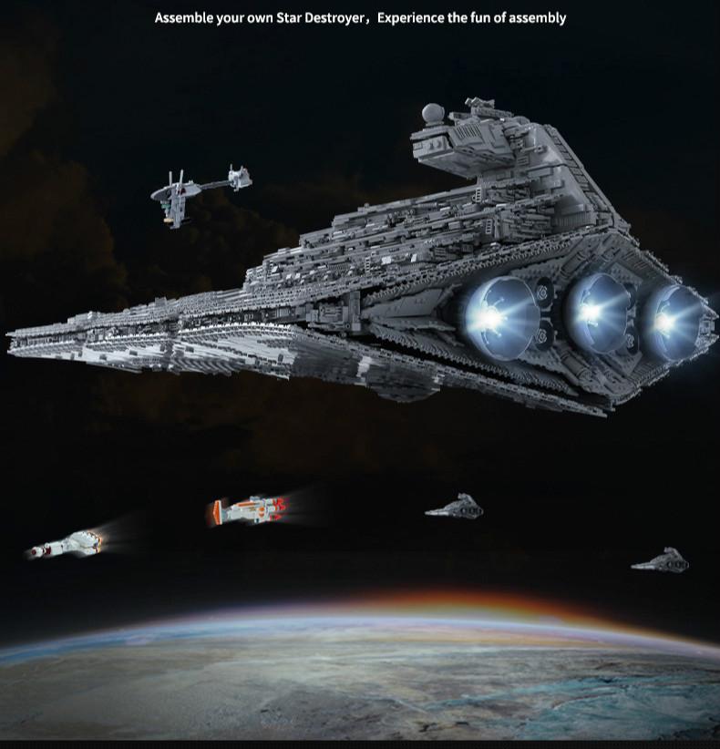 Mould King 13135 Star Wars Imperial Star Destroyer Monarch Building Blocks Toy Set