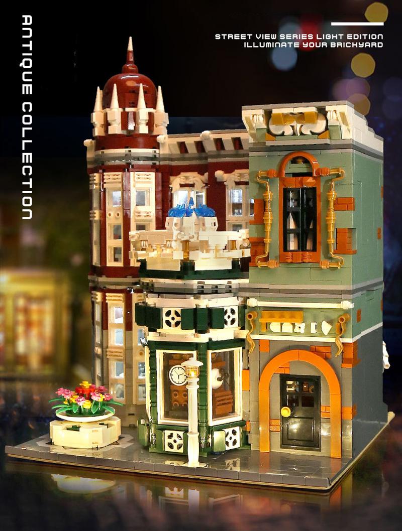 MOULD KING 16005 Antique Collection Shop Building Blocks Toy Set