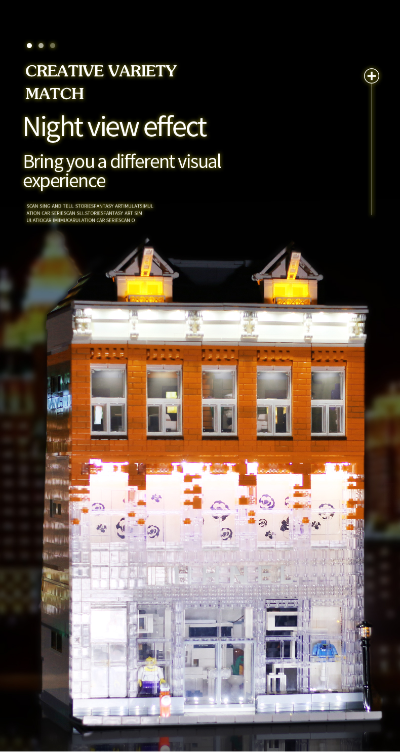 MOULD KING 16021 Channel Crystal House Building Blocks Toy Set