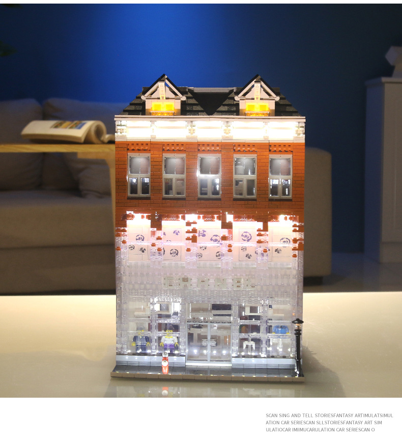 MOULD KING 16021 NovaTown Chanel Amsterdam Crystal House Building Blocks Toy Set
