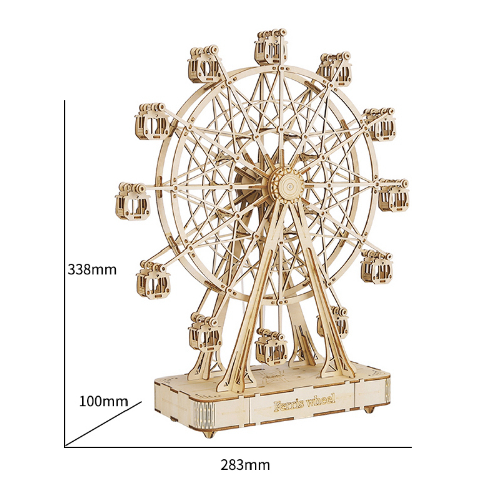 ROKR 3D Puzzle 3D Ferris Wheel Wooden Building Toy Kit