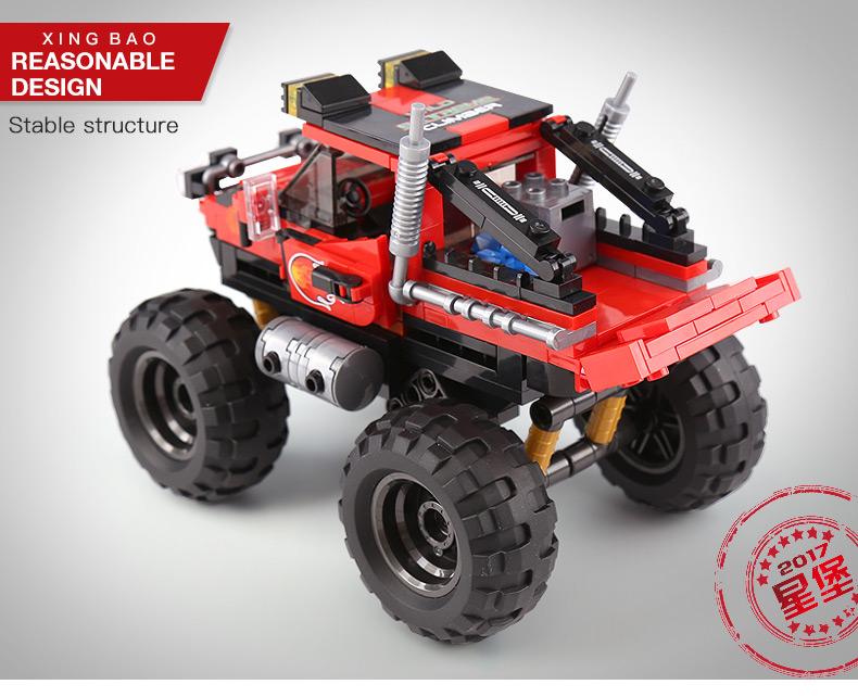 XINGBAO 03025 Bigfoot Off-road Vehicles Building Bricks Set