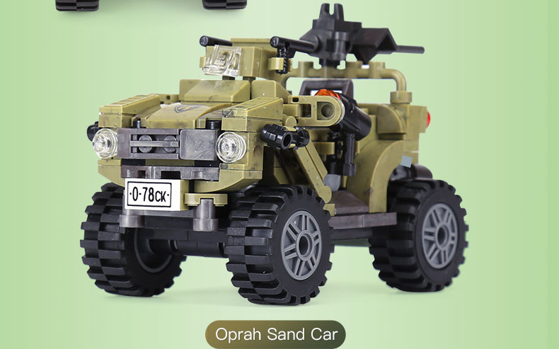 XINGBAO 06010 Oprah Sand Car Building Bricks Set