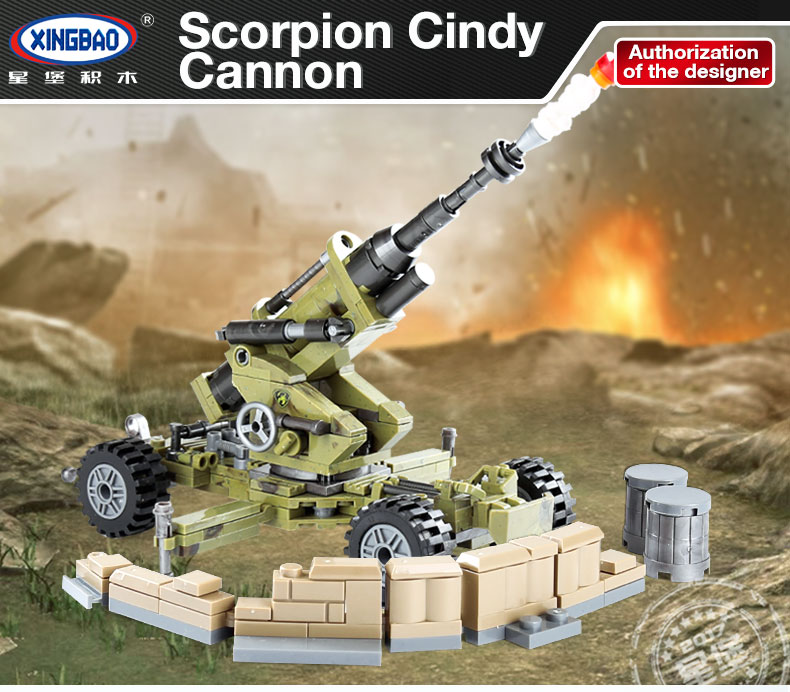 XINGBAO 06011 Scorpion Cindy Cannon Building Bricks Set