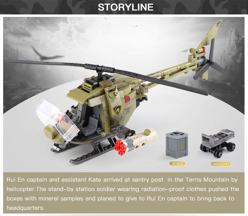 XINGBAO 06013 Light Hawk Helicopter Building Bricks Set