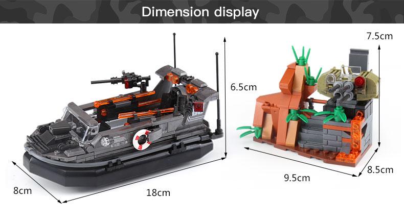 XINGBAO 06017 Assault Boat Building Bricks Set