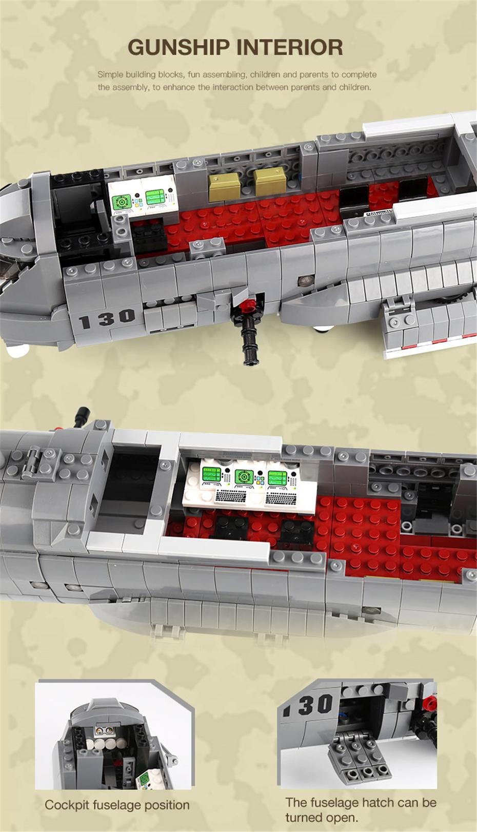 XINGBAO 06023 AC130 Gunship Building Bricks Set