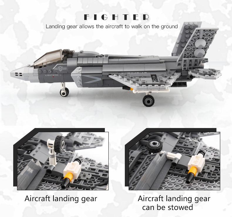XINGBAO 06026 F35 Combat Aircraft Building Bricks Set