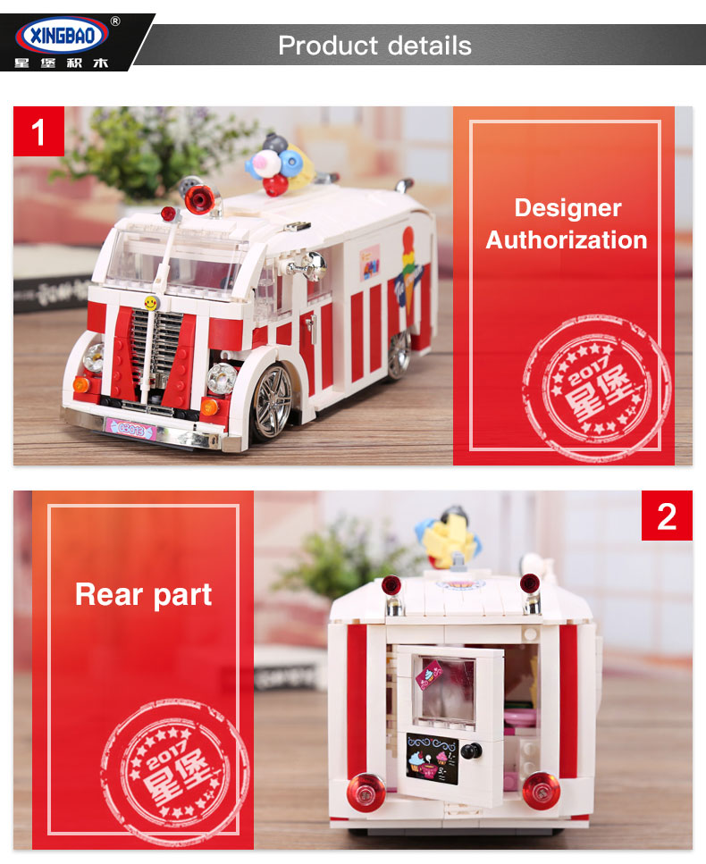 XINGBAO 08004 Ice Cream Car Building Bricks Set