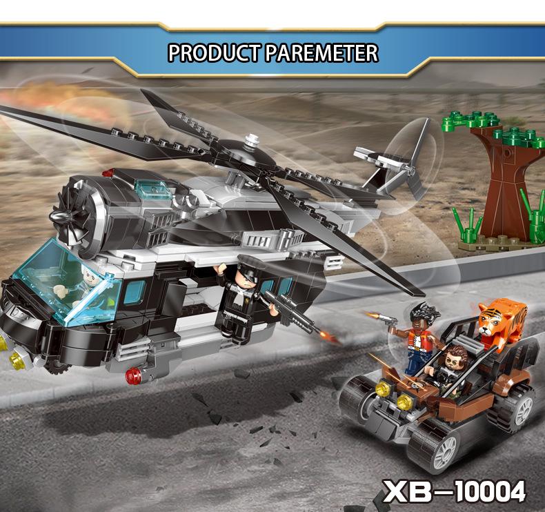 XINGBAO 10004 Chasing The Poachers Building Bricks Set