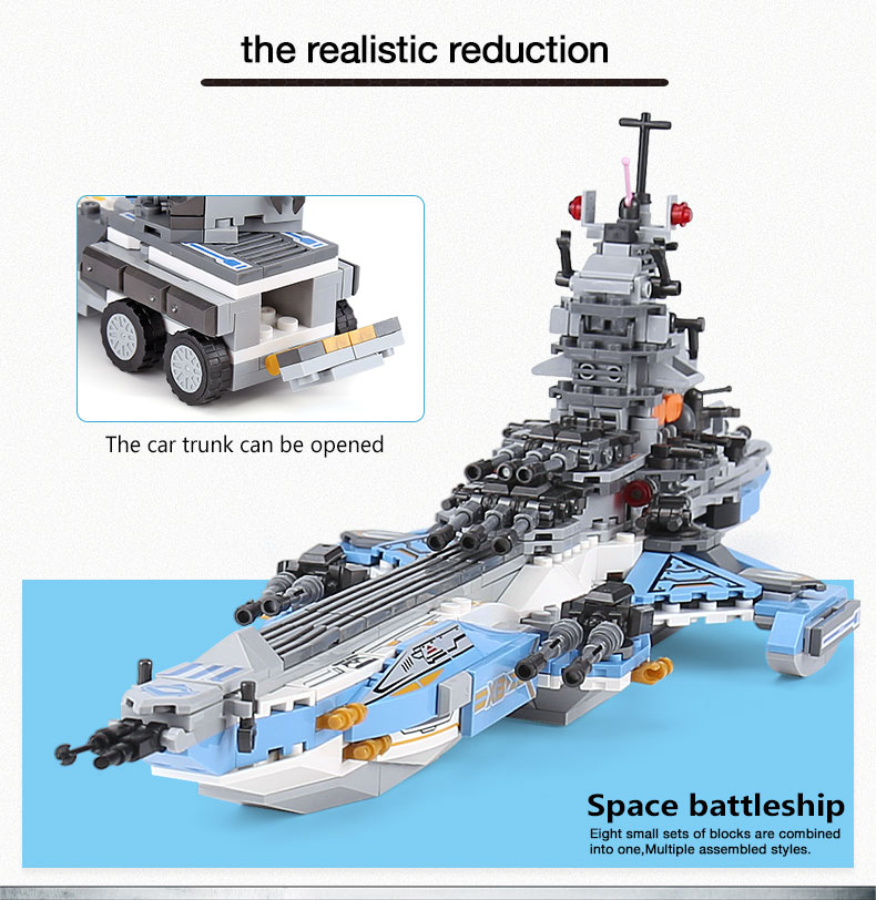 XINGBAO 13001 Battleship Building Bricks Set