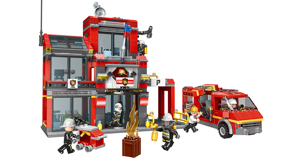 XINGBAO 14006 Fire Sixth Branch Building Bricks Set