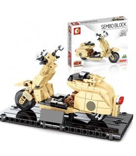 SEMBO 701104 Techinque Series Little Sheep Motorrad Bauklötze Spielzeugset