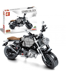 SEMBO 701107 Techinque Series BMW Latte Off-Road Scooter Building Blocks Toy Set