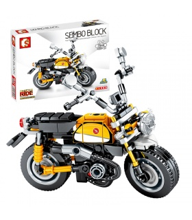 SEMBO 701115 Techinque Series Monkey Motorcycle Building Blocks Toy Set