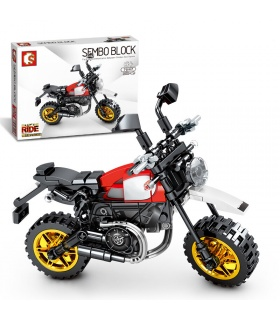 SEMBO 701117 Techinque Series Ducati Desert Sled Scooter Building Blocks Toy Set