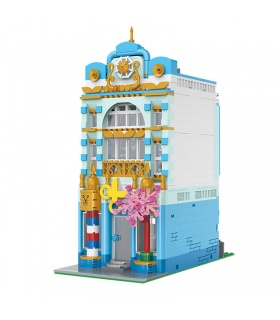 XINYU YC20005 Barber Shop City Street View Series Building Bricks Toy Set