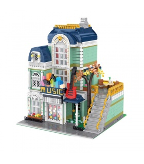 XINYU YC20008 The Music Store City Street View Series Building Bricks Toy Set