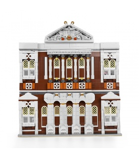 MOULD KING 16032 Street View Series Small Town Concert Hall Building Blocks Toy Set