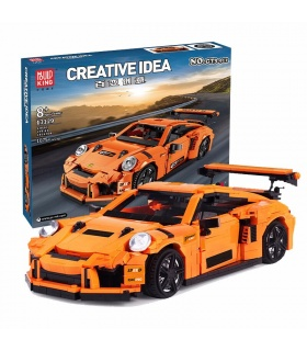 MOLD KING 13129 Creative Series GT3-911 Sportwagen-Bausteine-Spielzeug-Set