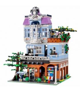 MOLD KING 16004 Coffee Shop mit LED-Leuchten Bausteine-Spielzeug-Set