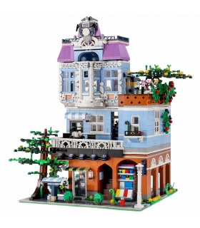 MOULD KING 16004 Coffee Shop with LED Lights Building Blocks Toy Set
