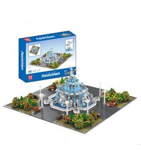 MOLD KING 16003 Street View Serie Angel Square Bausteine-Spielzeug-Set