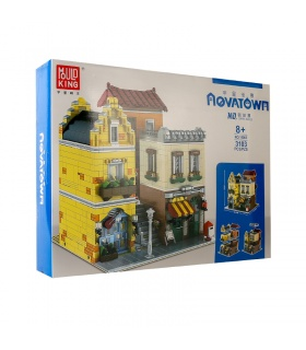 MOLD KING 16008 Street View Serie Café Shop Bausteine-Spielzeug-Set