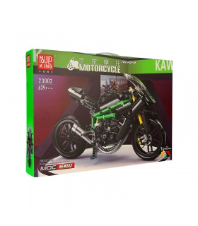 MOLD KING 23002 Motorrad-Serie H2-R Motorrad-Bausteine-Spielzeug-Set