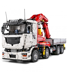 MOULD KING 19002 Engineering Pneumatic Series Mounted Crane Truck Building Blocks Toy Set