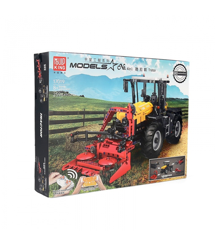 MOLD KING 17019 Traktor Fastrac 4000er Fernbedienung Bausteine Spielzeug Set