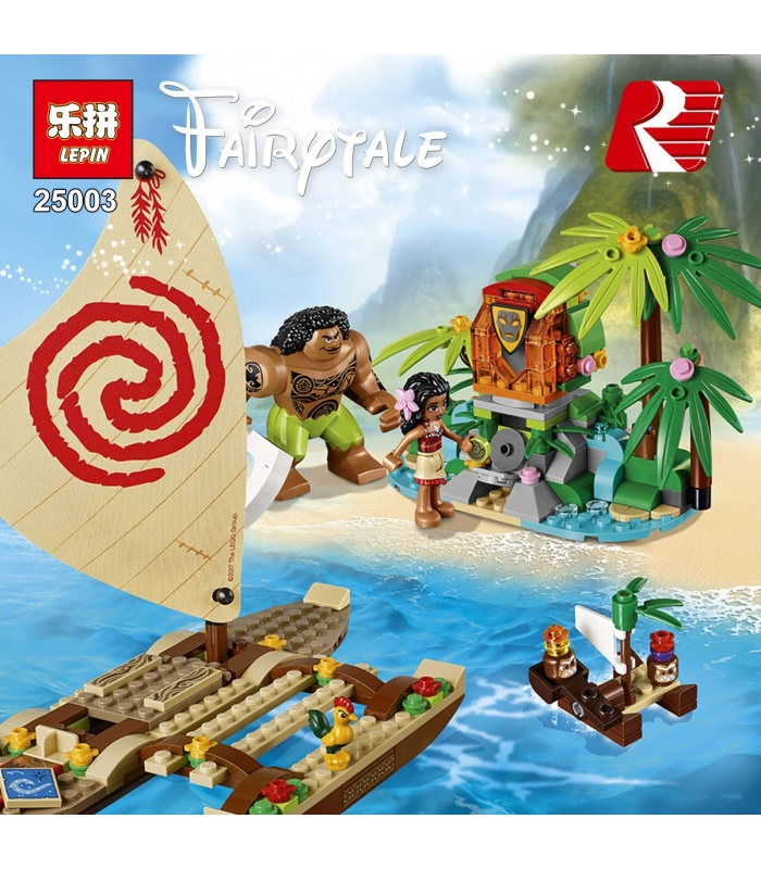 LEPIN 25003 Moana's Ocean Voyage Building Bricks Set