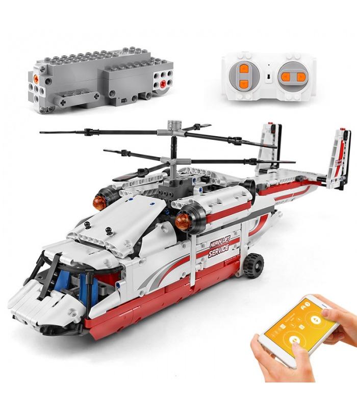 MOLD KING 15012 Doppelrotor-Transporthubschrauber-Bausteine-Spielzeug-Set