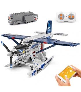 MOLD KING 15014 Ensemble de jouets de blocs de construction RC pour avions amphibies