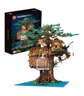 MOLD KING 16033 Baumhaus Baumhaus mit Lichter Bausteine-Spielzeug-Set