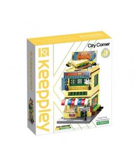 Keeppley City Corner K28002 Hong Kong Teerestaurant QMAN Bausteine-Spielzeug-Set