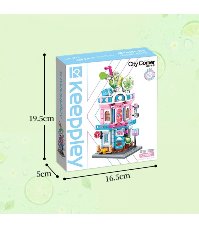 Keeppley K28005 City Corner Mojito Pub Building Blocks Toy Set