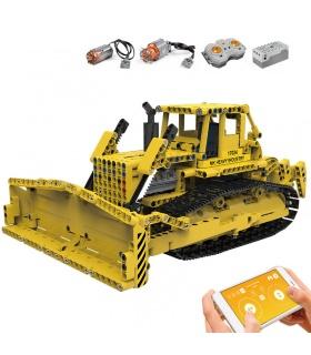MOLD KING 17024 D8K Bulldozer Fernbedienung Bausteine-Spielzeug-Set
