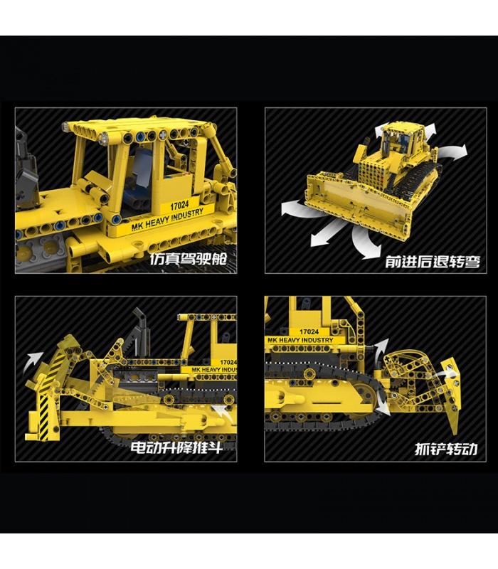 MOULD KING 17024 D8K Bulldozer Remote Control Building Blocks Toy Set