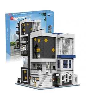MOULD KING 16043 Art Gallery with LED Lights Novatown Series Building Blocks Toy Set