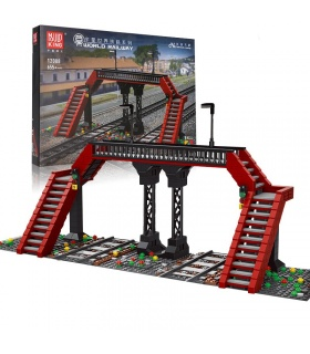MOLD KING 12008 Train Parts the Railroad Crossing Model Building Blocks Toy Set