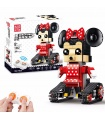 Mould King 13042 Mimi Mouse Walking Brick Remote Control Building Blocks Toy Set