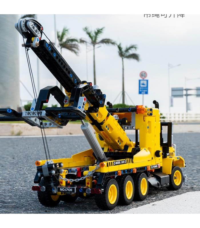 MOLD KING 17011 City Engeineering Heavy-Duty Abschleppwagen Bausteine-Spielzeug-Set