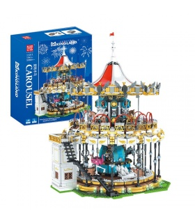 MOLD KING 11011 MKing Land Karussell Bausteine-Spielzeug-Set