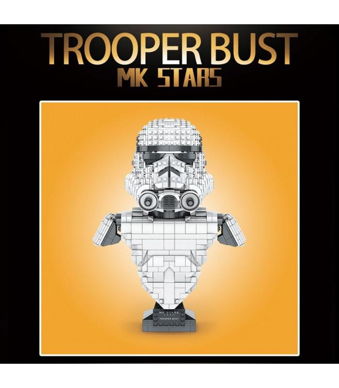 MOULD KING 21022 Stormtrooper Bust Building Blocks Toy Set