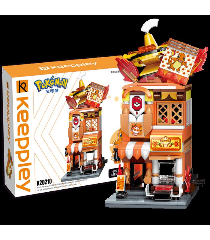 Keeppley K20210 Charmander Hotpot Restaurant Shop Building Blocks Toy Set