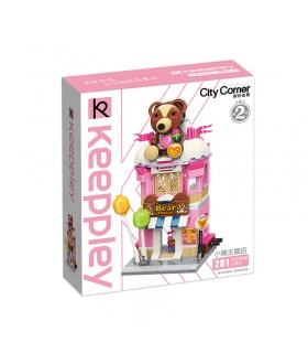 Keeppley City Corner C0109 Teddy Theme Store QMAN Building Blocks Toy Set