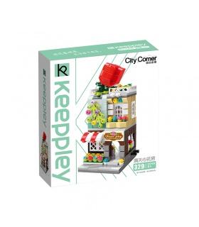 Keeppley City Corner C0104 Red Rose Florist QMAN Building Blocks Toy Set