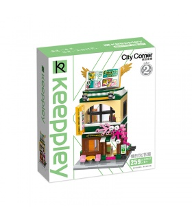 Keeppley City Corner C0107 Colorful Bookstore QMAN Building Blocks Toy Set