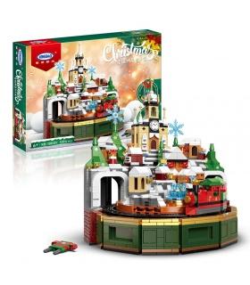 XINGBAO 18020 Feliz Navidad Castillo Caja de música Juego de juguetes de bloques de construcción